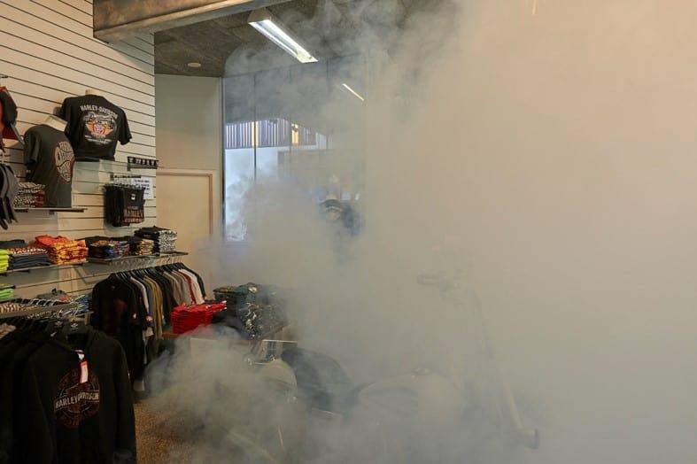 La nebbia di sicurezza nasconde le costose giacche Harley-Davidson
